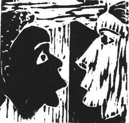 Bargaining, woodcut